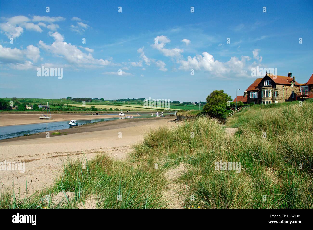 Alnmouth,Northumberland - Stock Image