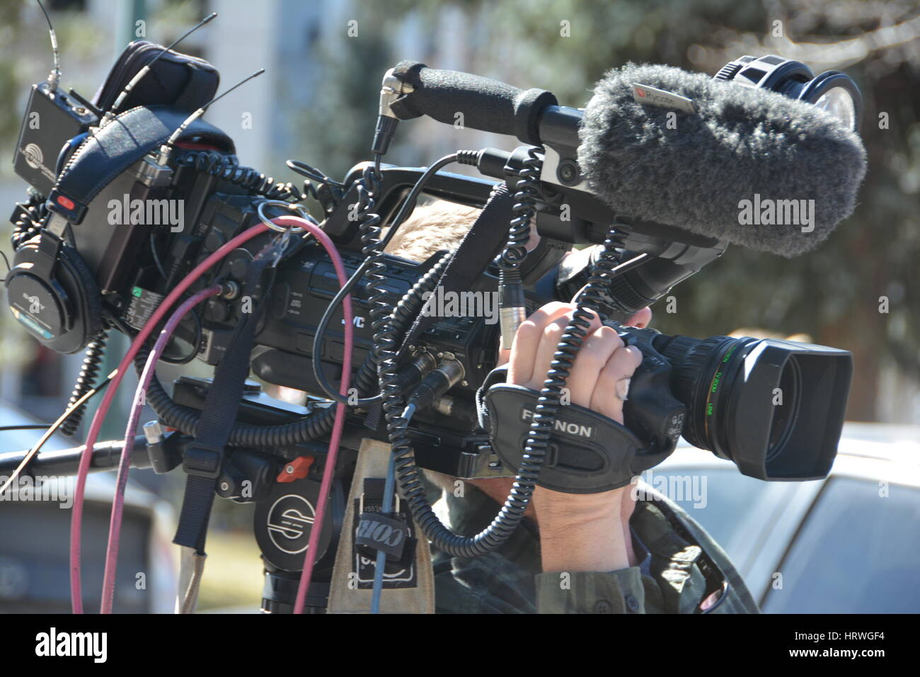 Professional Digital Camcorder Filmmaker - Stock Image