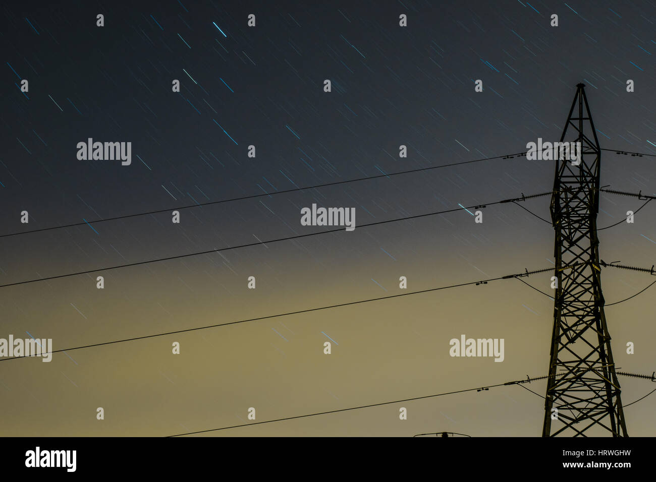 stary night - Stock Image