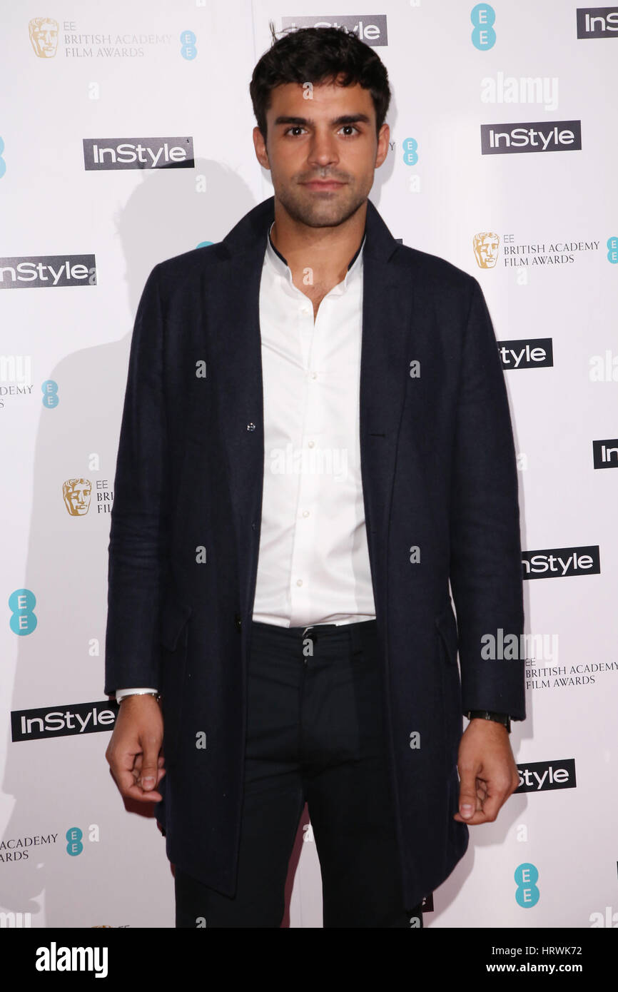 The InStyle EE Rising Star Awards party held at the Ivy Brasserie - Arrivals  Featuring: Sean Teale Where: London, - Stock Image