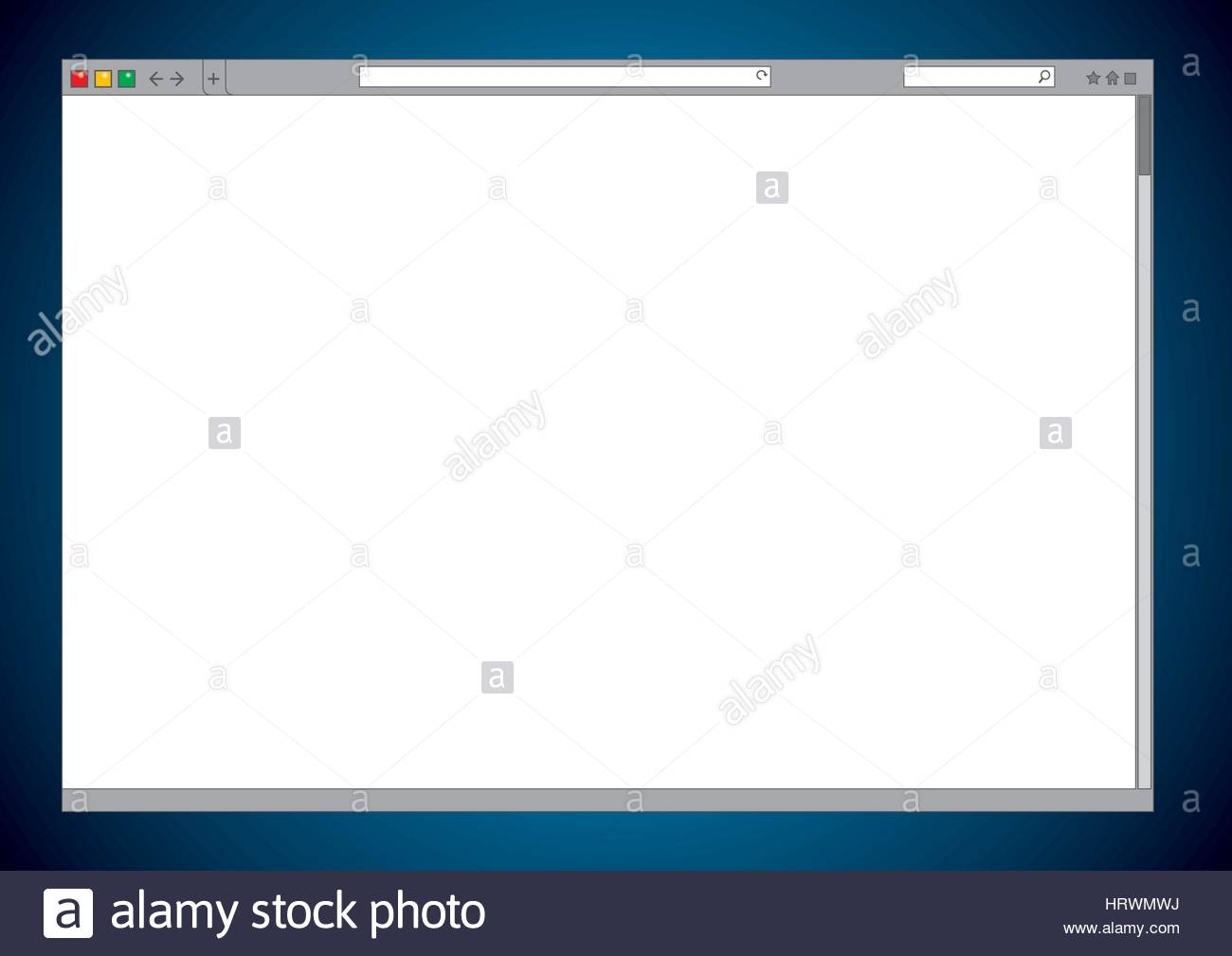 Blank Internet Web Browser Window Cleared Vector Template Of A