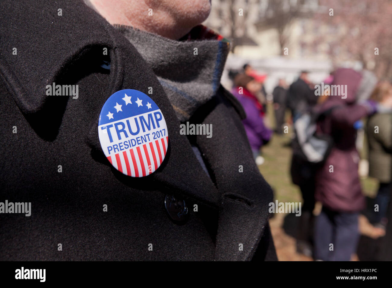 Washington, DC, USA. March 04, 2017. The 'Spirit of America' rally draws a small crowd in front of the White - Stock Image
