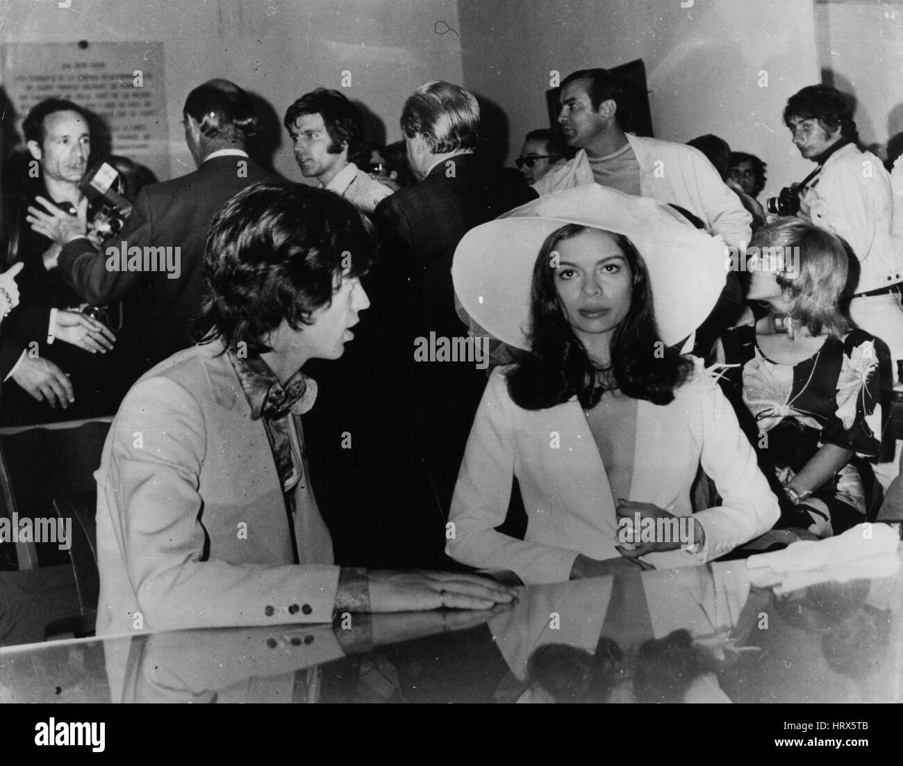 May 05, 1971 - A complete uproar at Jagger's wedding in St. Tropez: Mick Jagger of the Rolling Stones was married - Stock Image