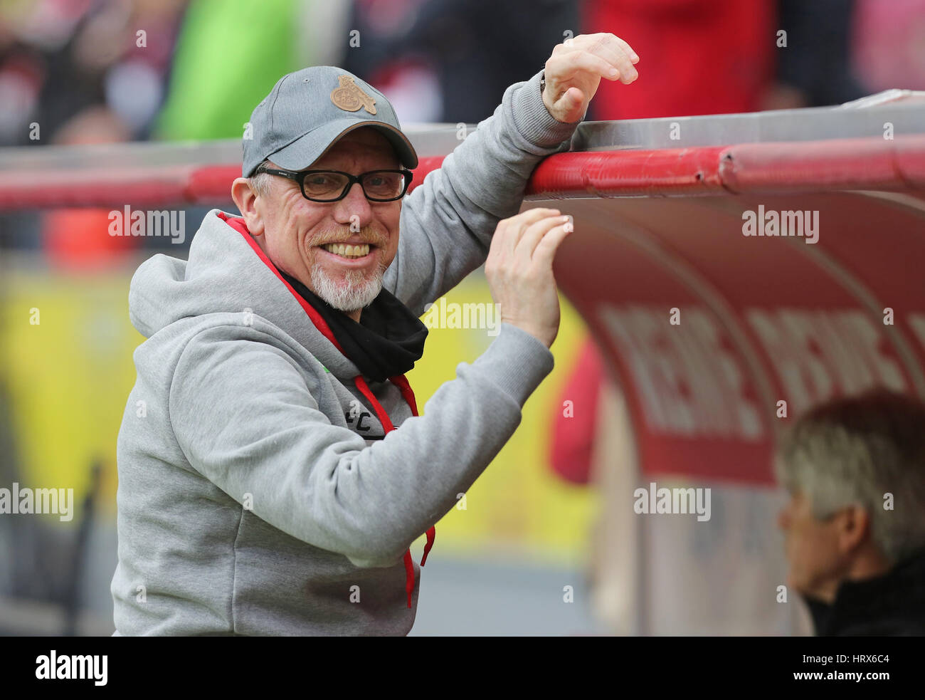 Cologne, Germany. March 4, 2017.  Bundesliga matchday 23, 1. FC Koeln - FC Bayern Muenchen:  Manager Peter Stoeger - Stock Image