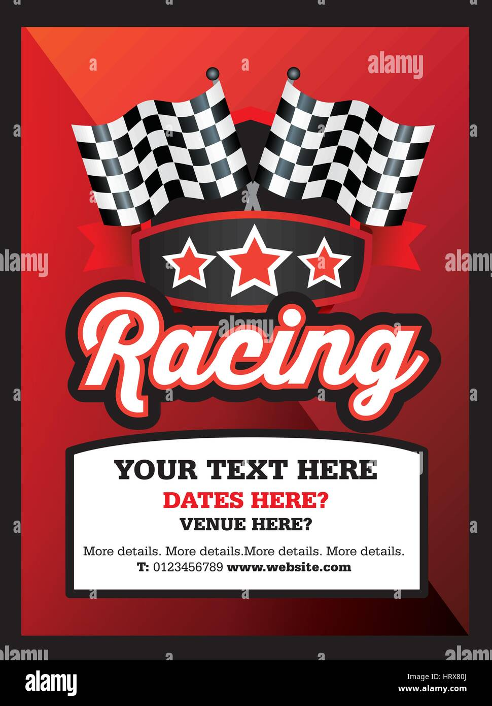 poster ad advertisement marketing or promotion flyer for a motor sport racing club or event
