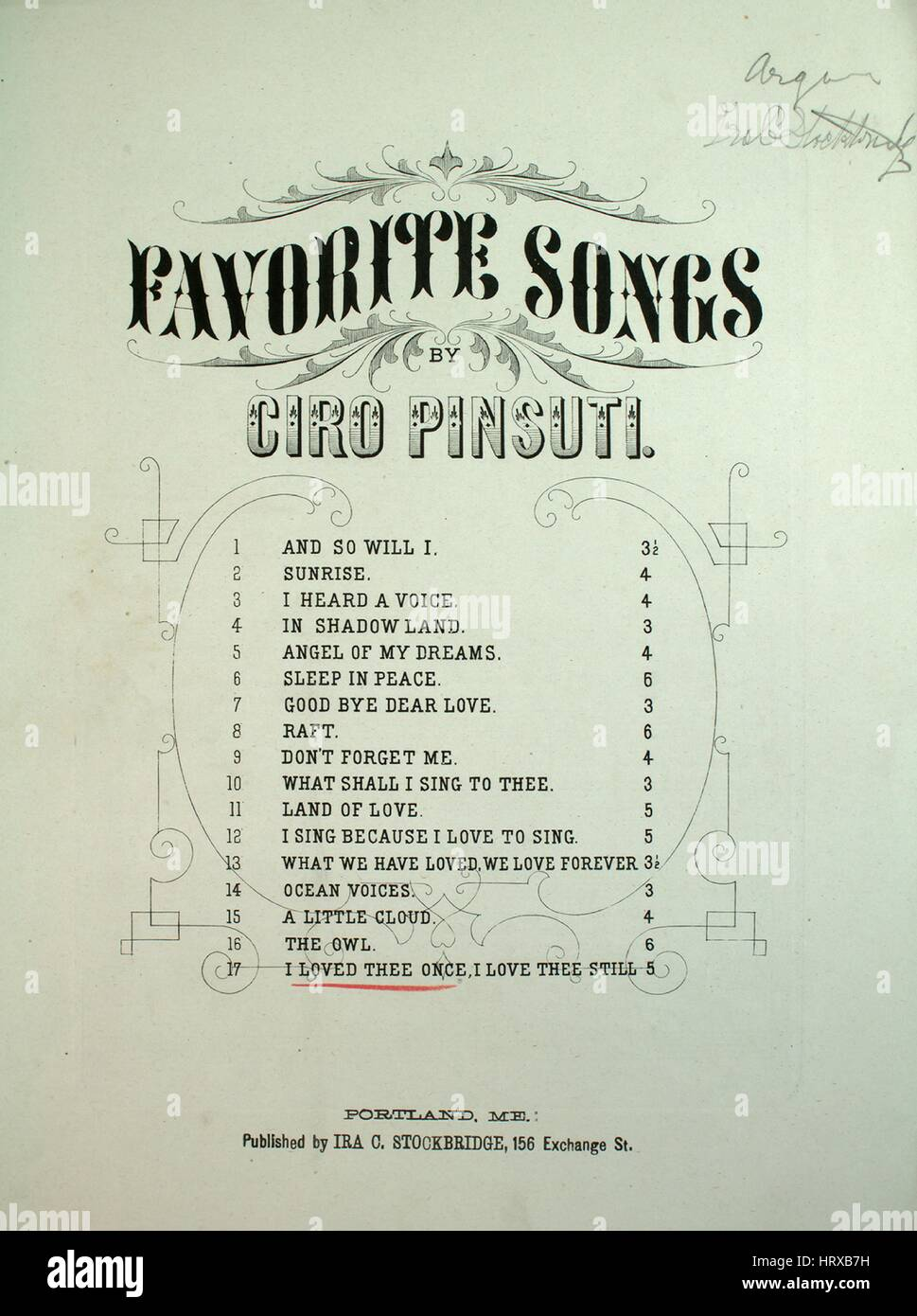 Sheet music cover image of the song 'Favorite Songs by Ciro