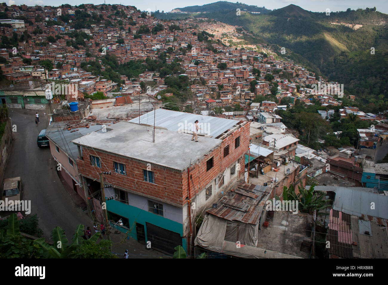 Venezuela, Caracas, Petare, Miranda State 06/04/2012. Slums in El Nazareno neighborhood in Petare. - Stock Image