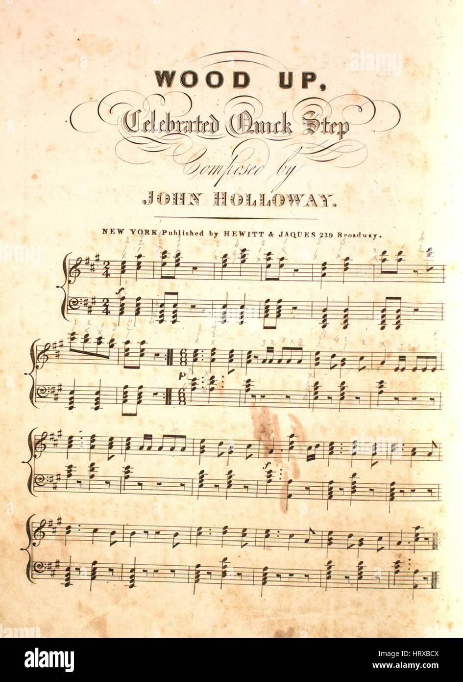 Sheet music cover image of the song 'Wood Up Celebrated Quick Step