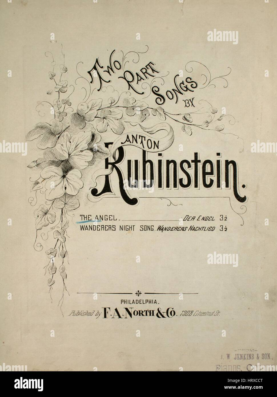 Sheet music cover image of the song 'Two Part Songs by Anton
