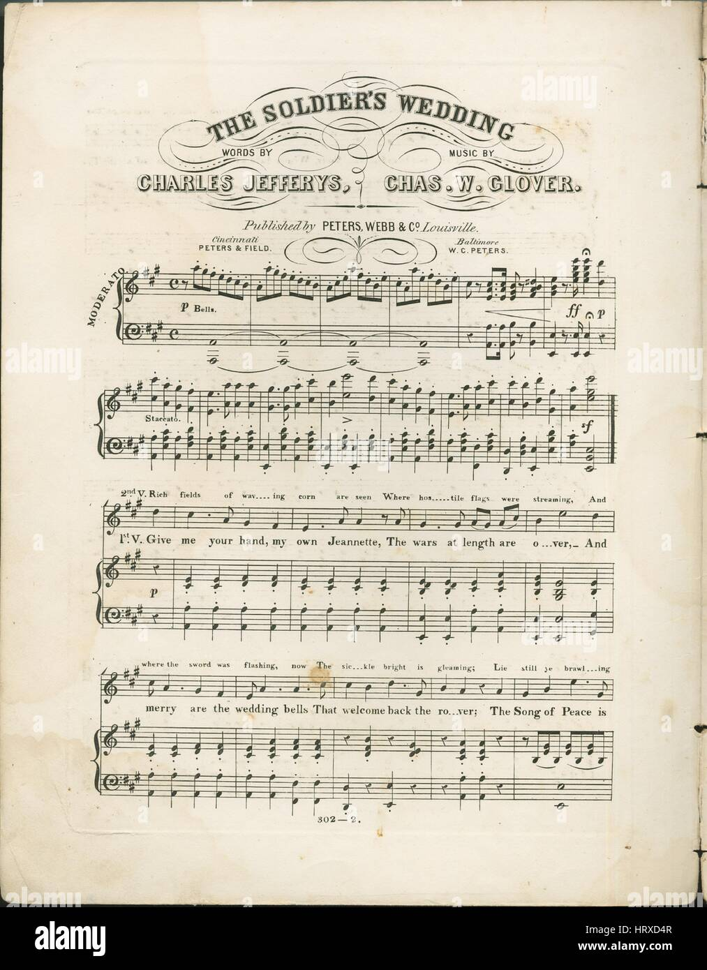 Sheet music cover image of the song 'The Soldier's Wedding