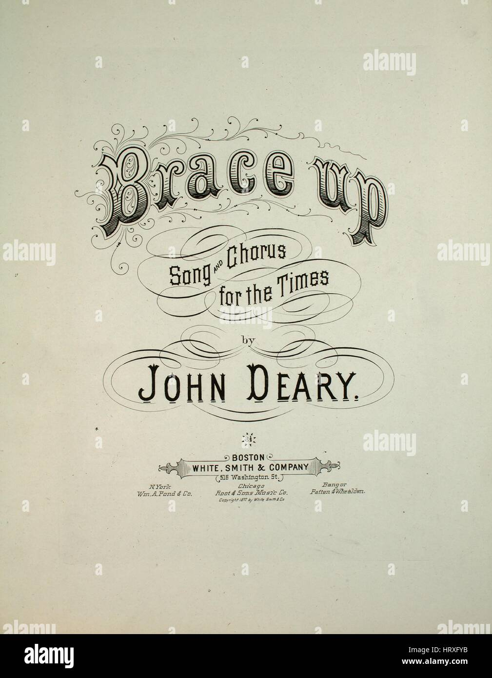 Sheet music cover image of the song 'Brace Up Song and Chorus for