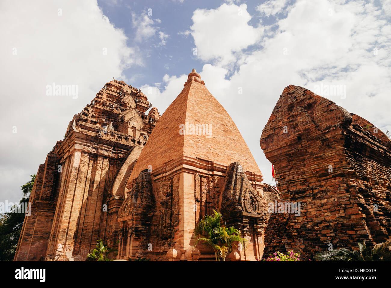 Po Nagar Cham Towers Pagoda in Nha Trang, Vietnam - Stock Image