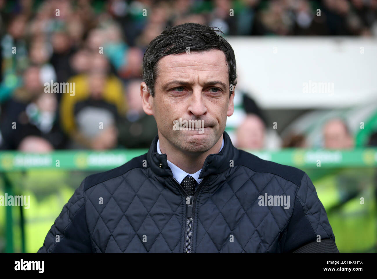 St Mirren Manager Jack Ross During The Ladbrokes Scottish Premiership Match At Celtic Park Glasgow