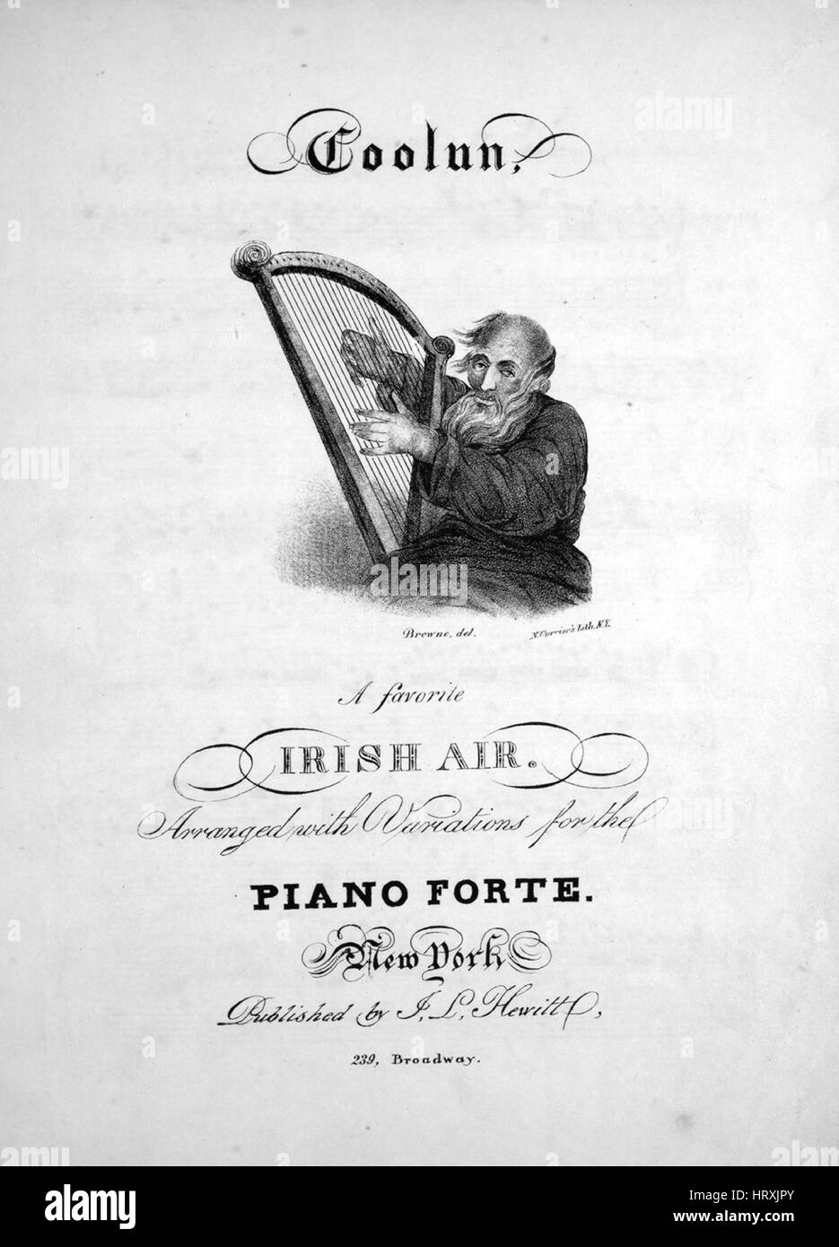 Sheet music cover image of the song 'Coolun A Favorite Irish