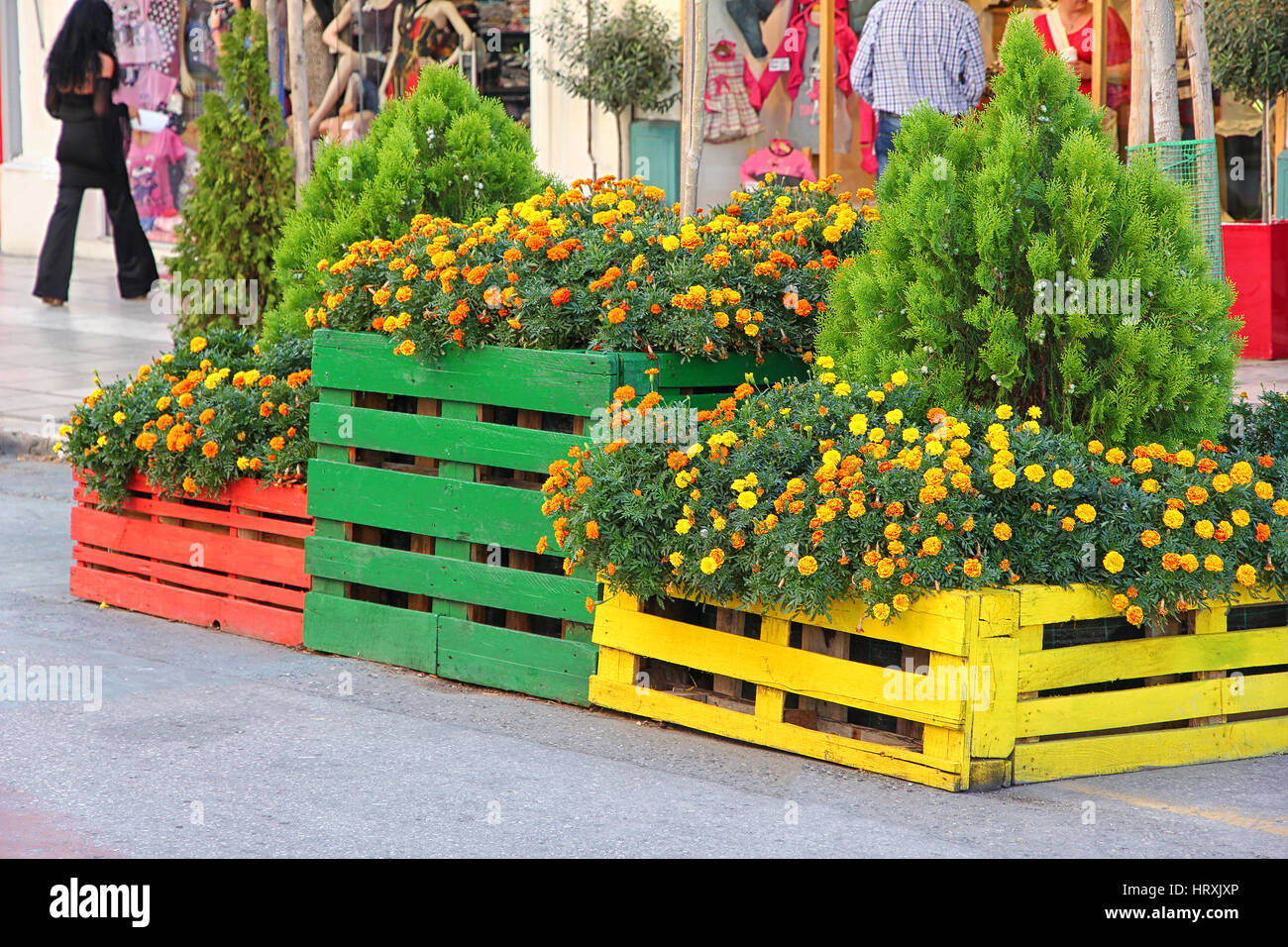 Beautiful Flower Pots Stock Photos Beautiful Flower Pots Stock
