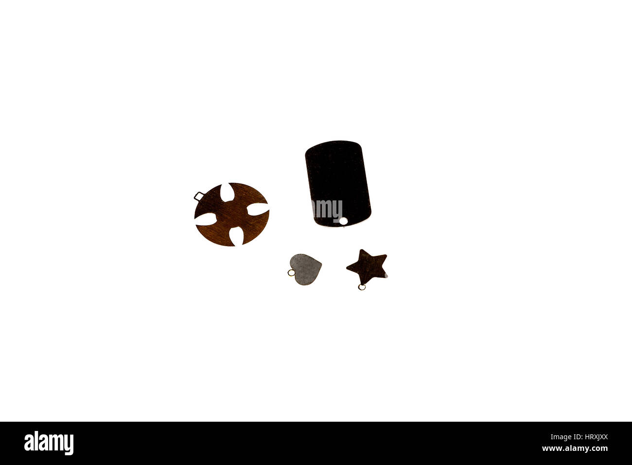 various metal things ,isolated on white background - Stock Image