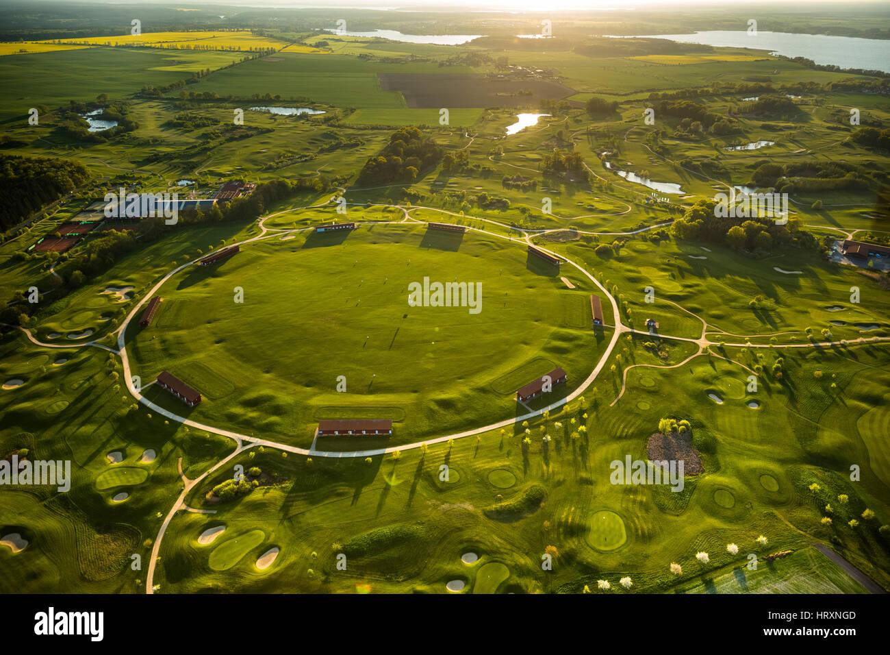 round Driving Range, Golf Club Fleesensee, GC Fleesensee, Fleesensee Golf School, Golf Course, Goehren-Lebbin, Mecklenburg - Stock Image