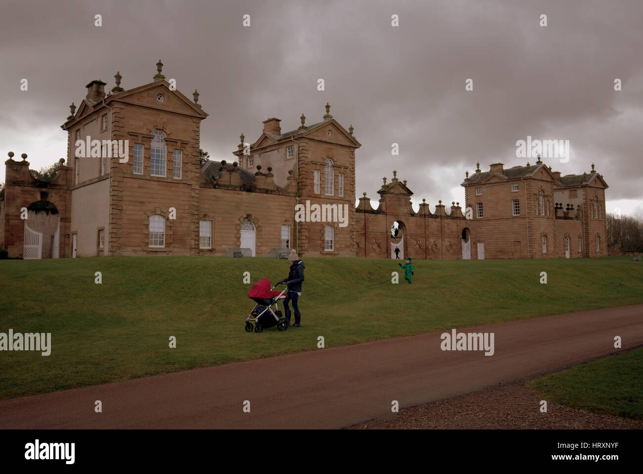 Chatelherault Country Park is a country park in Hamilton, South Lanarkshire, Scotland, - Stock Image
