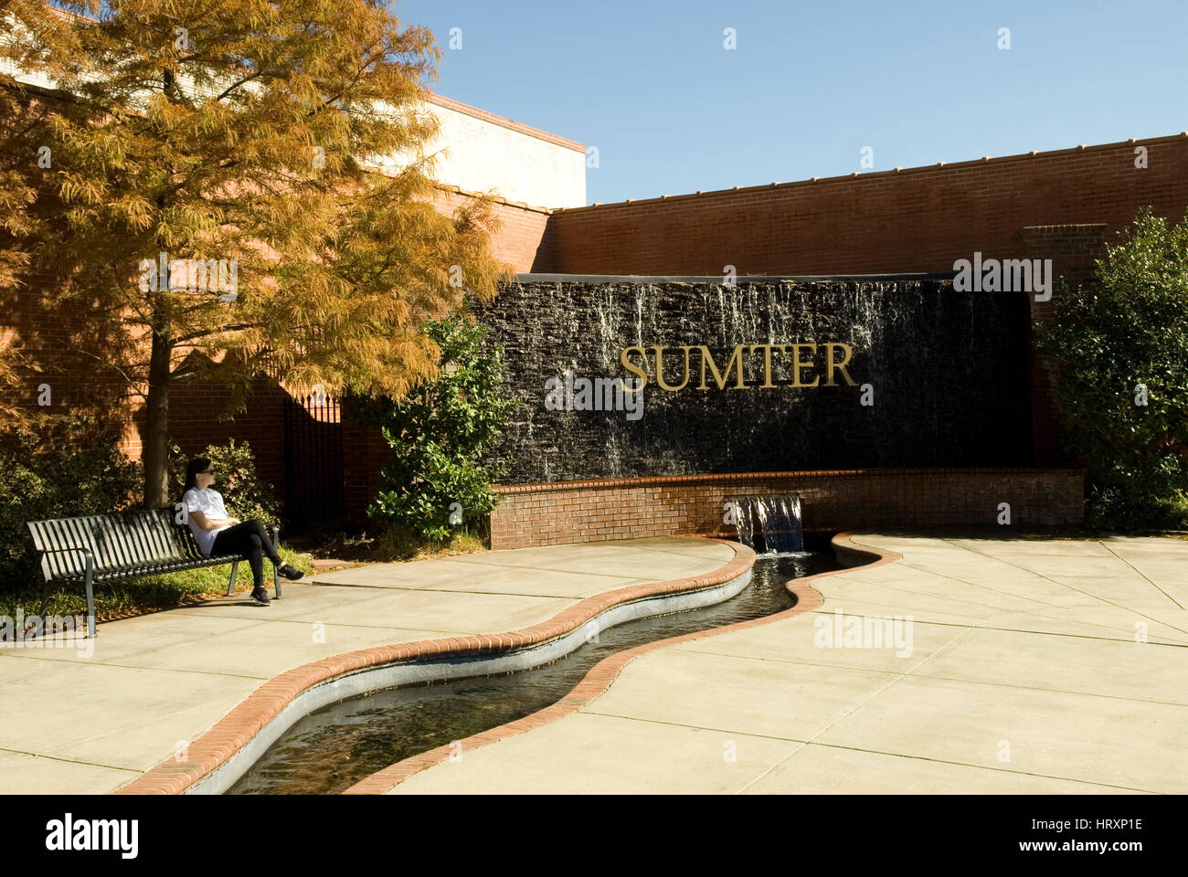 Centennial Plaza in Sumter, SC, USA. - Stock Image