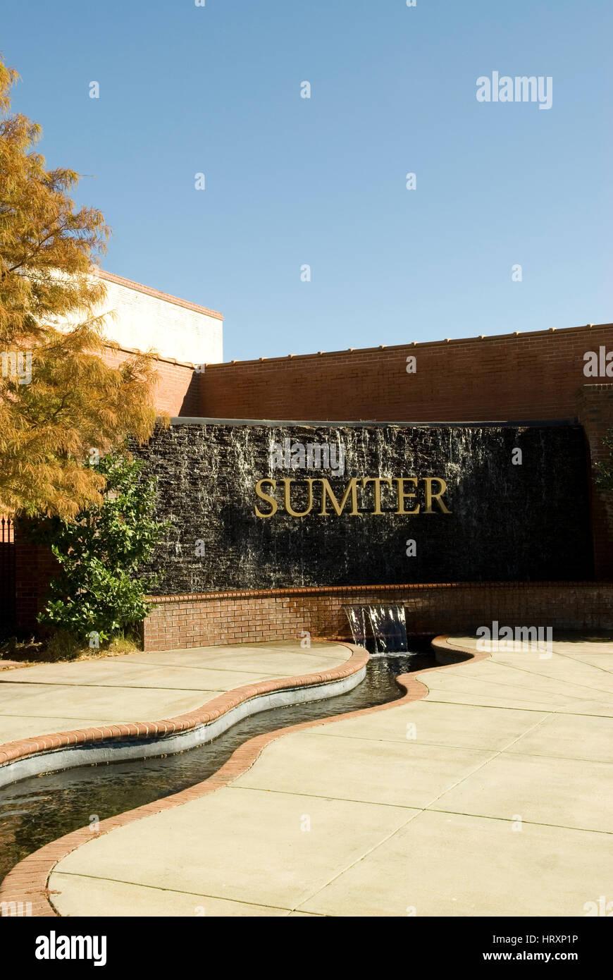 Centennial Plaza Sumter SC, USA. - Stock Image