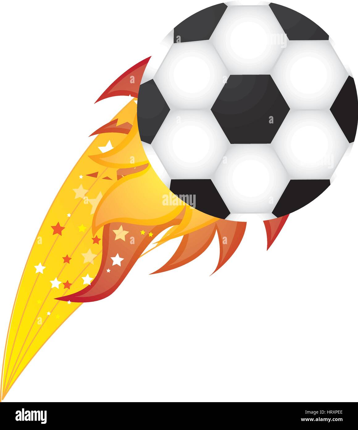 colorful olympic flame with soccer ball vector illustration - Stock Vector