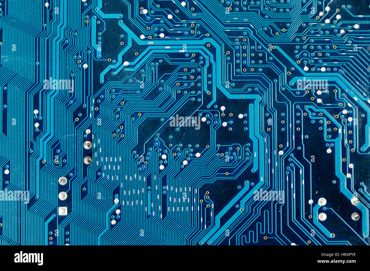 Electronic circuit plate background blue Stock Photo: 135198434 - Alamy