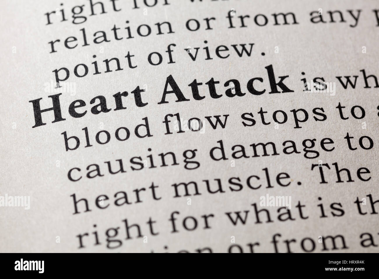 fake dictionary, dictionary definition of the word heart attack