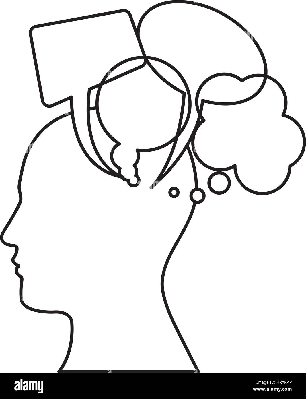 Human Head Side Profile