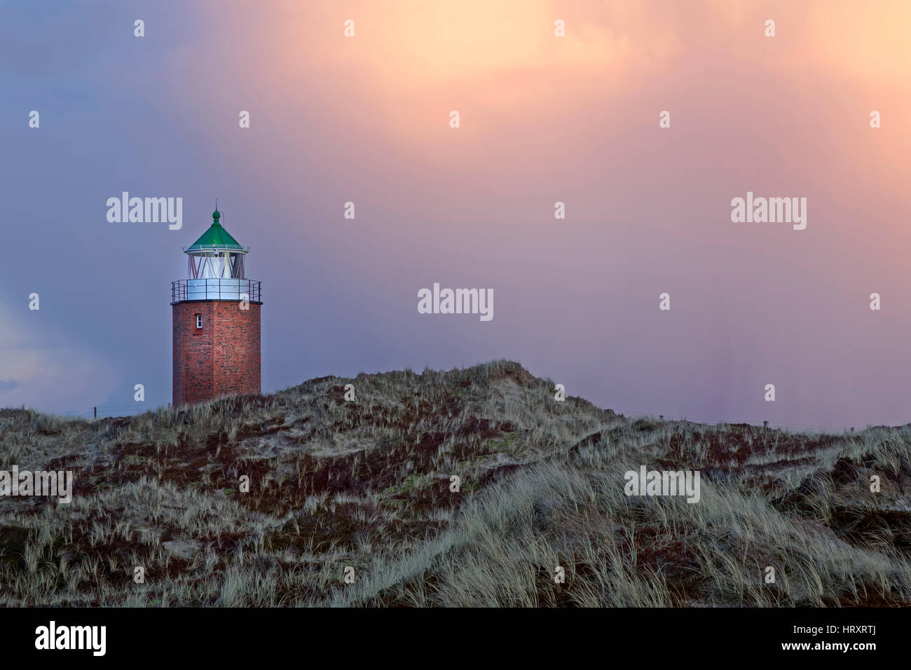 Old lighthouse, Kampen, Sylt, North Frisia, Schleswig-Holstein, Germany, Europe - Stock Image