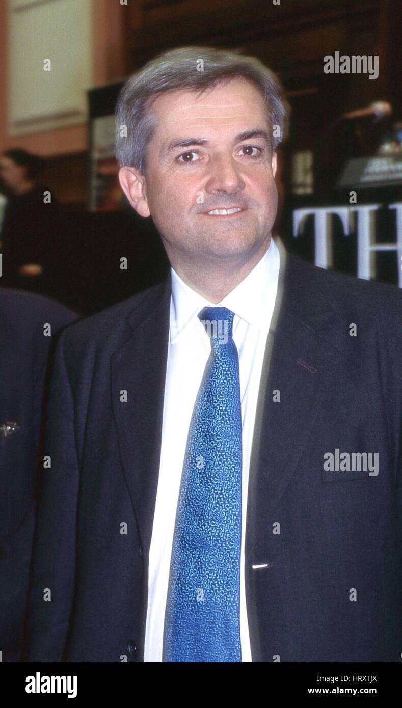 Chris Huhne, Liberal Democrat party Member of Parliament for Eastleigh, attends a public meeting during the Leadership - Stock Image