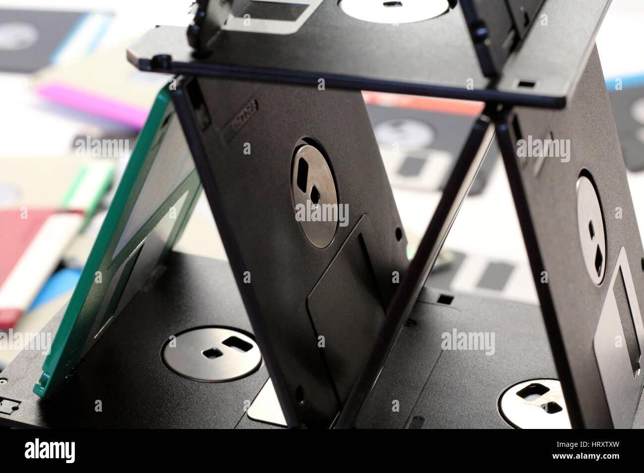 Floppy disk magnetic - Stock Image