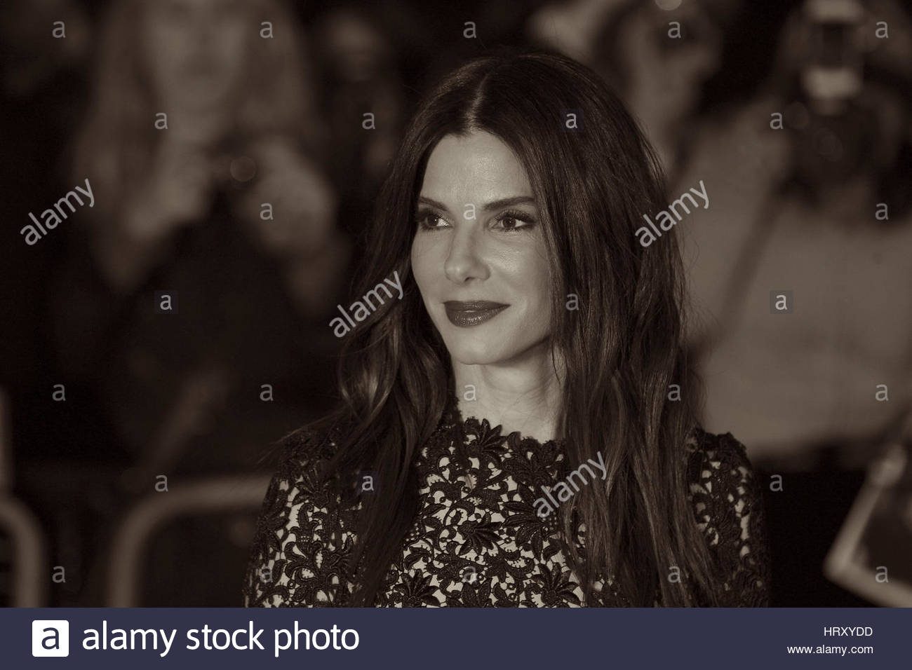 London, UK, 10th October 2013. Sandra Bullock ( Image digitally altered to sepia effect ) attends  the gala screening - Stock Image