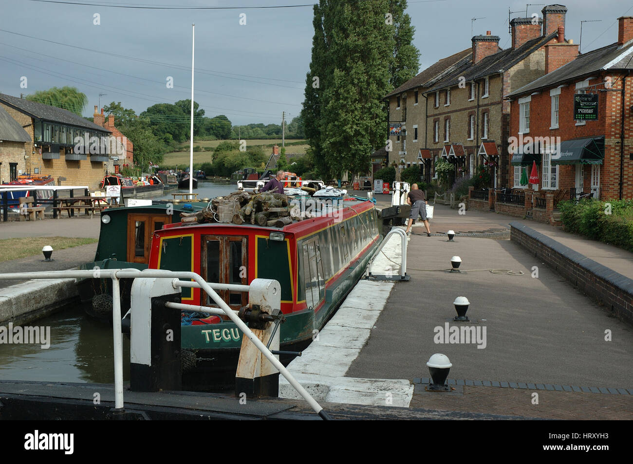 Lock at Stoke Bruerne, Northamptonshire, UK - Stock Image