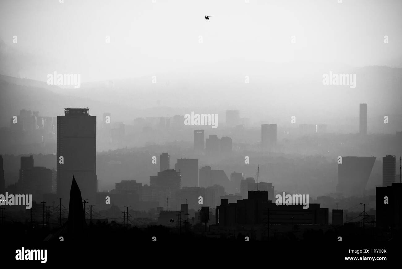 Smog in Mexico City - Stock Image