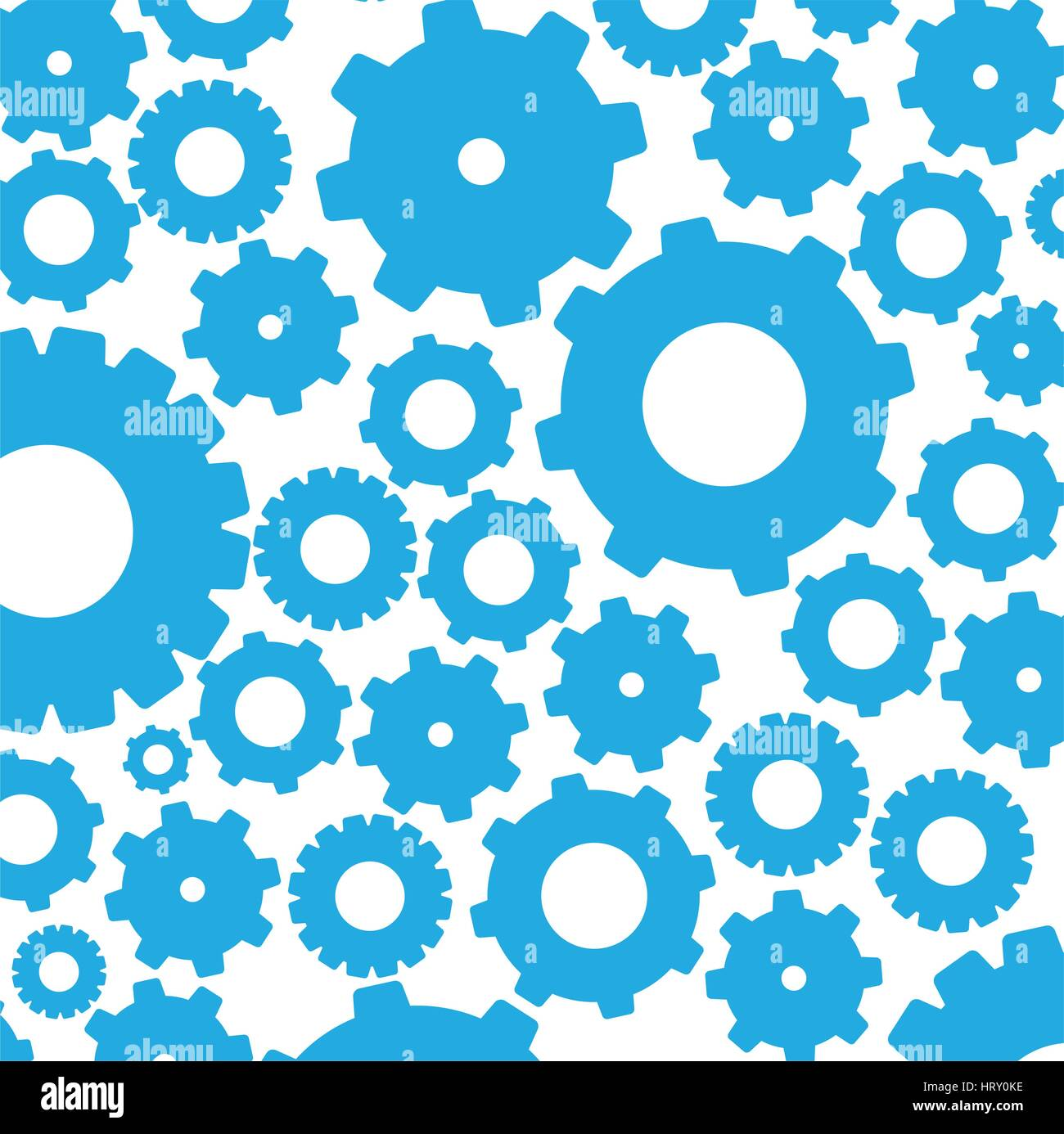 color pattern with gears and pinions - Stock Image