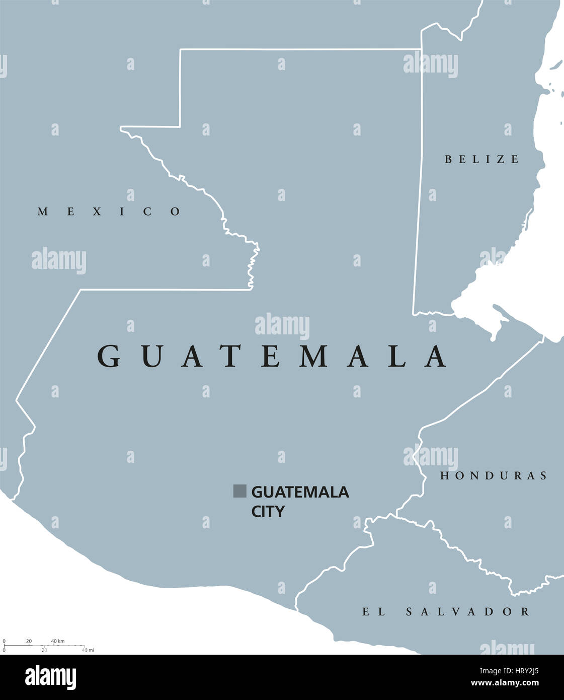 Map of guatemala stock photos map of guatemala stock images alamy guatemala political map with capital and national borders republic and country in central america gumiabroncs Gallery