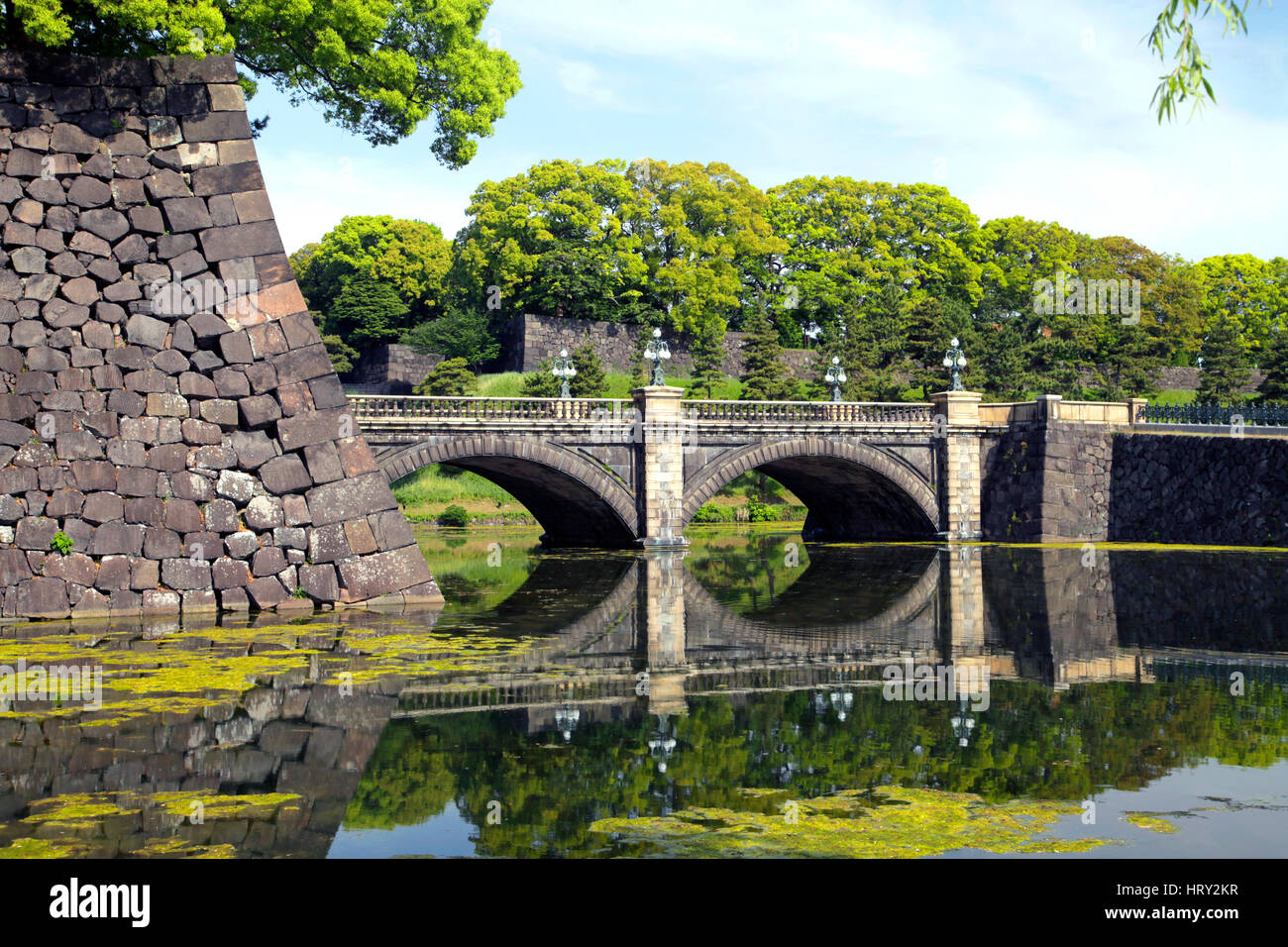 Nijubashi Bridge at Imperial Palace Tokyo Japan - Stock Image