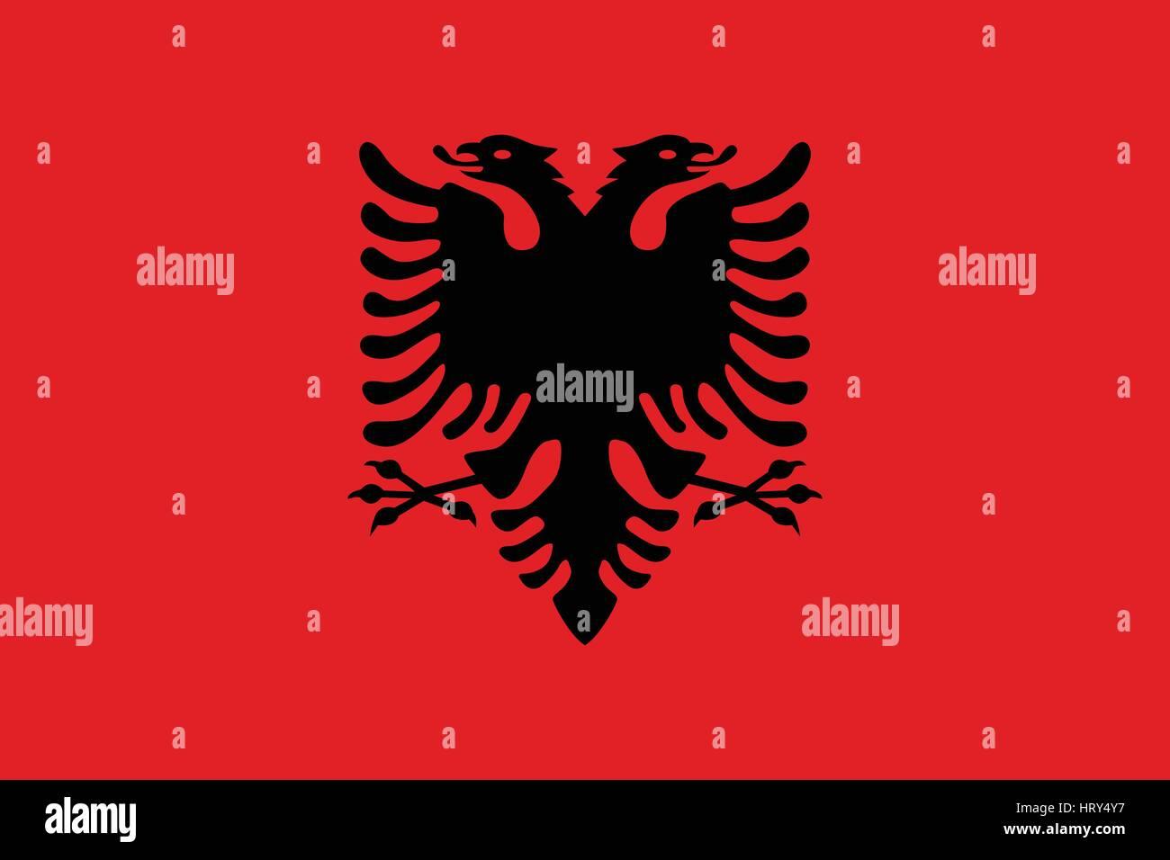 Official vector flag of Albania - Stock Vector