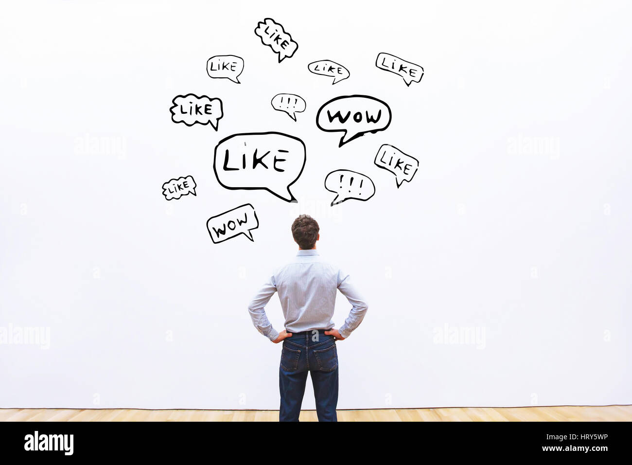 positive feedback concept, likes on social networks - Stock Image