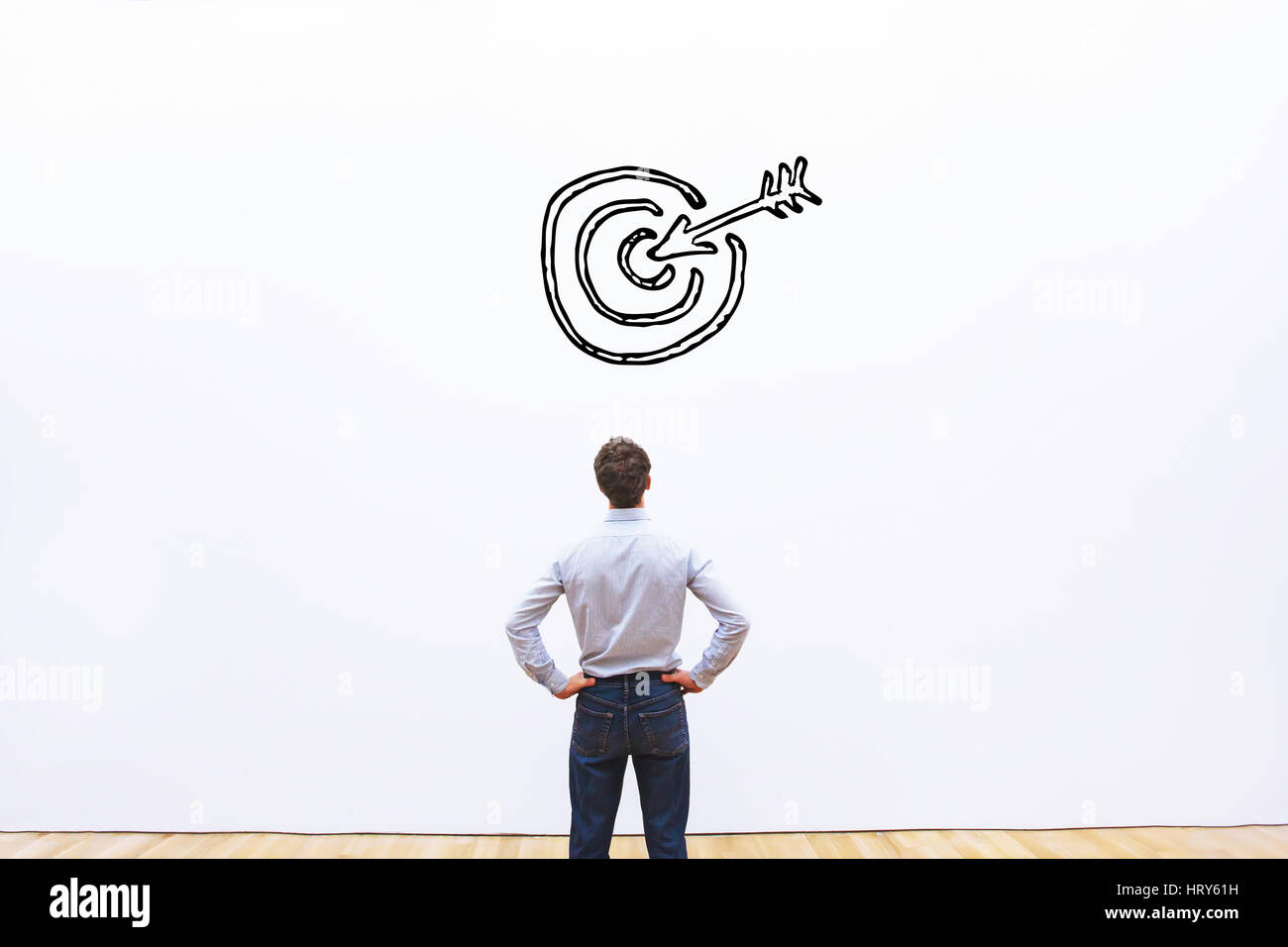 business target or goal concept, aim - Stock Image