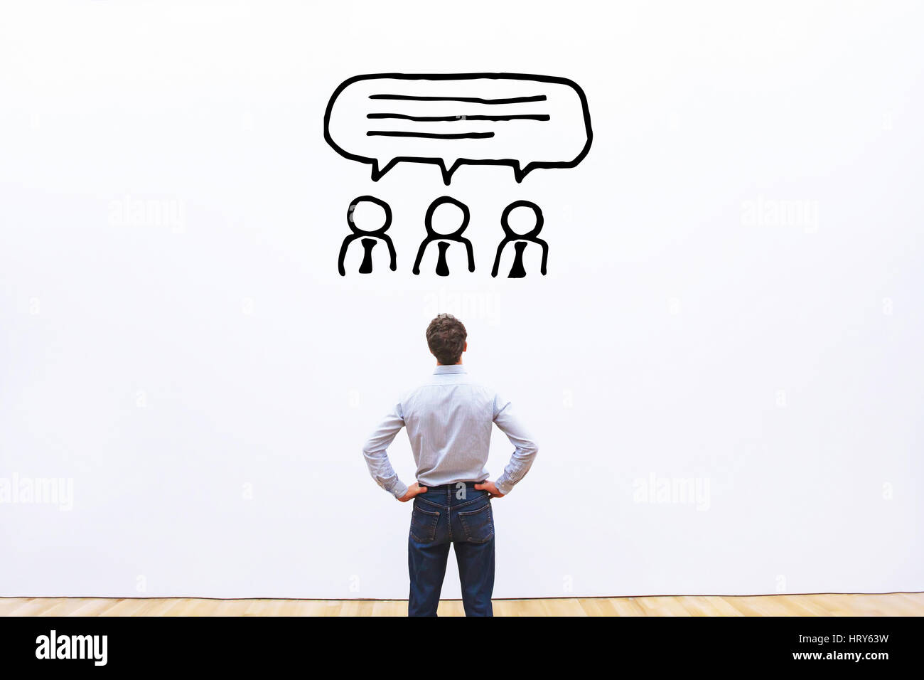consensus of shareholders, expert advice concept in business, collective opinion - Stock Image