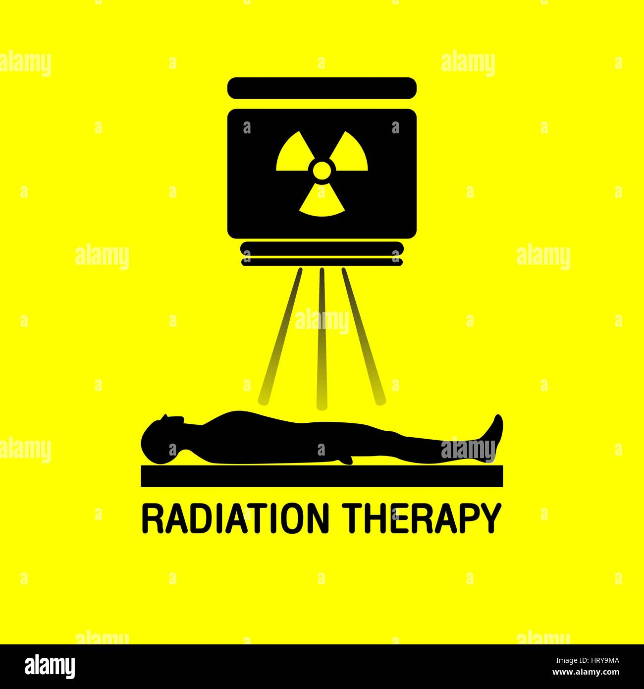 Radiation therapy Medical logo vector icon design - Stock Image