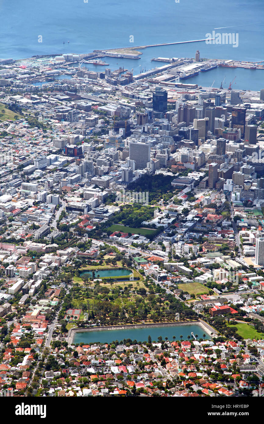 view from Table Mountain, Cape Town, South Africa - Stock Image