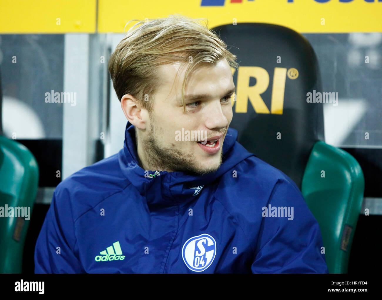 sports, football, Bundesliga, 2016/2017, Borussia Moenchengladbach versus FC Schalke 04 4:2, Stadium Borussia Park, - Stock Image