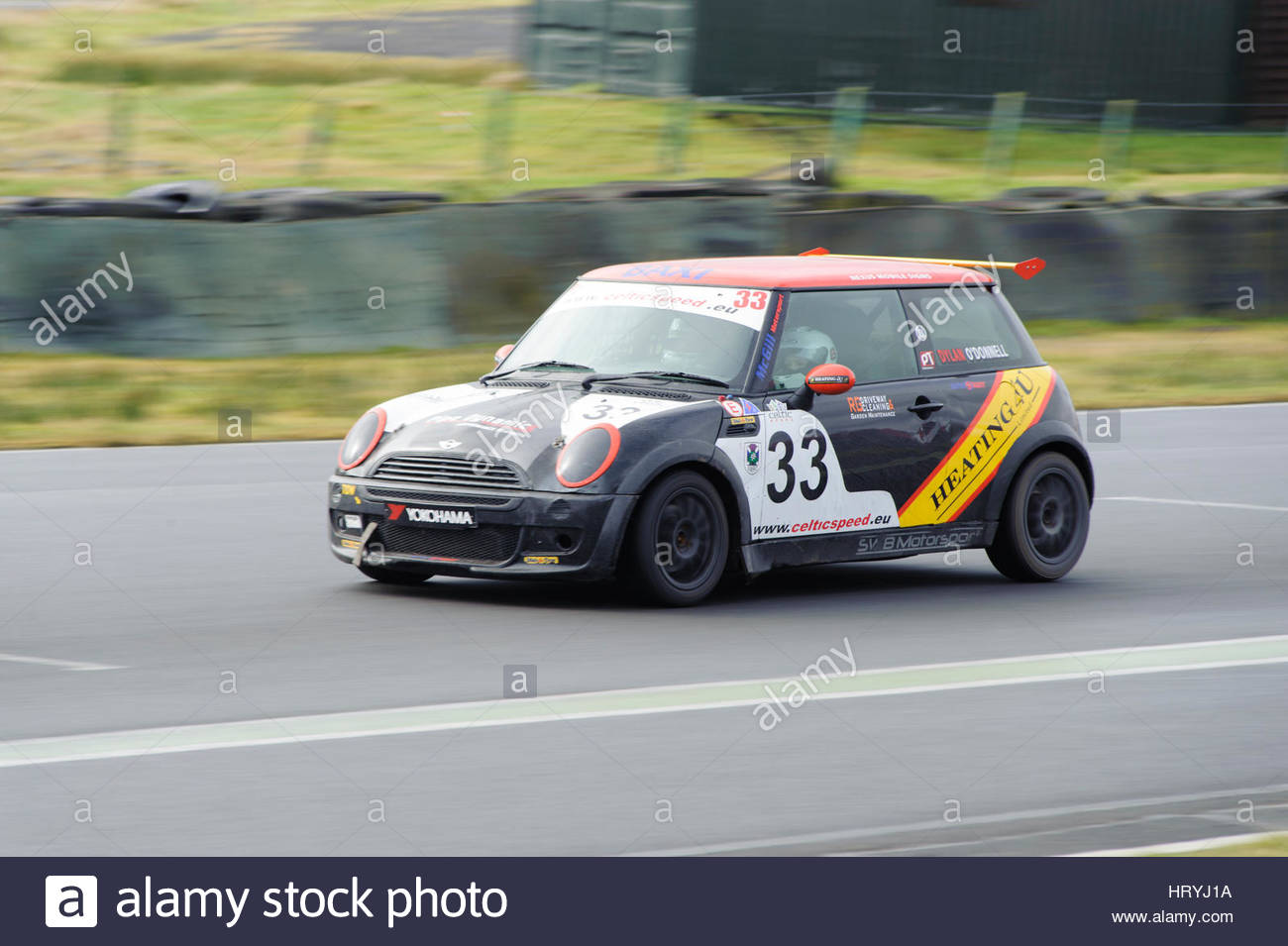 Dunfermline, UK. Sun 5th March, 2017.   Heading for Duffus Dip as the first full Hot Hatch Track Day of the year - Stock Image