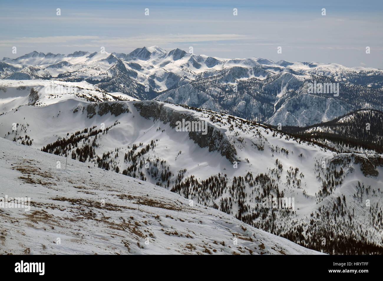 mammoth lakes, california, usa. 4th mar, 2017. sierra nevada stock