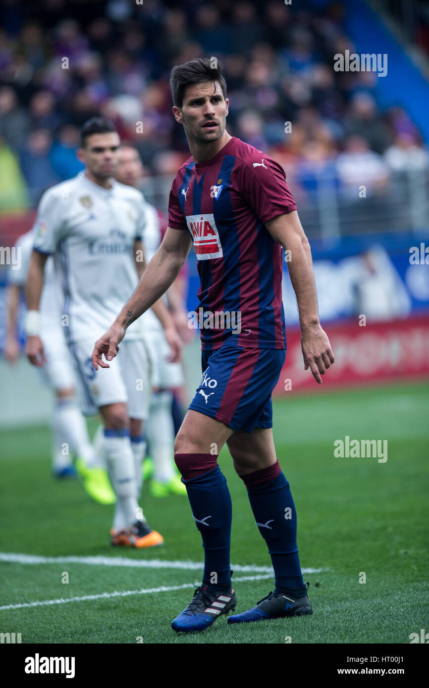 Eibar, Spain. 4th March, 2017. Match day of La Liga Santander 2016 - 2017 season between S.D Eibar and Real Madrid - Stock Image