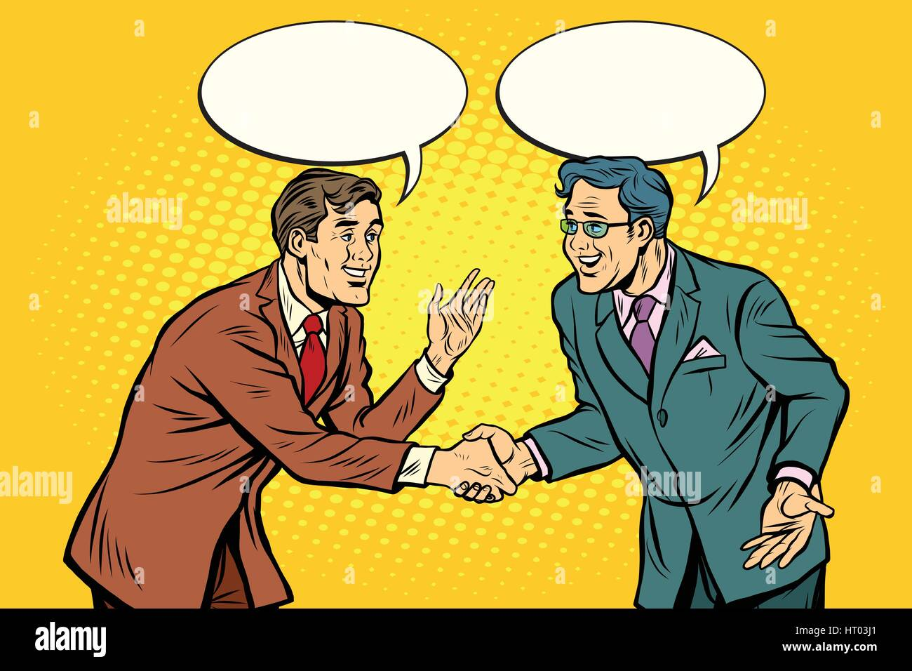 Business negotiations businesspeople shaking hands - Stock Vector