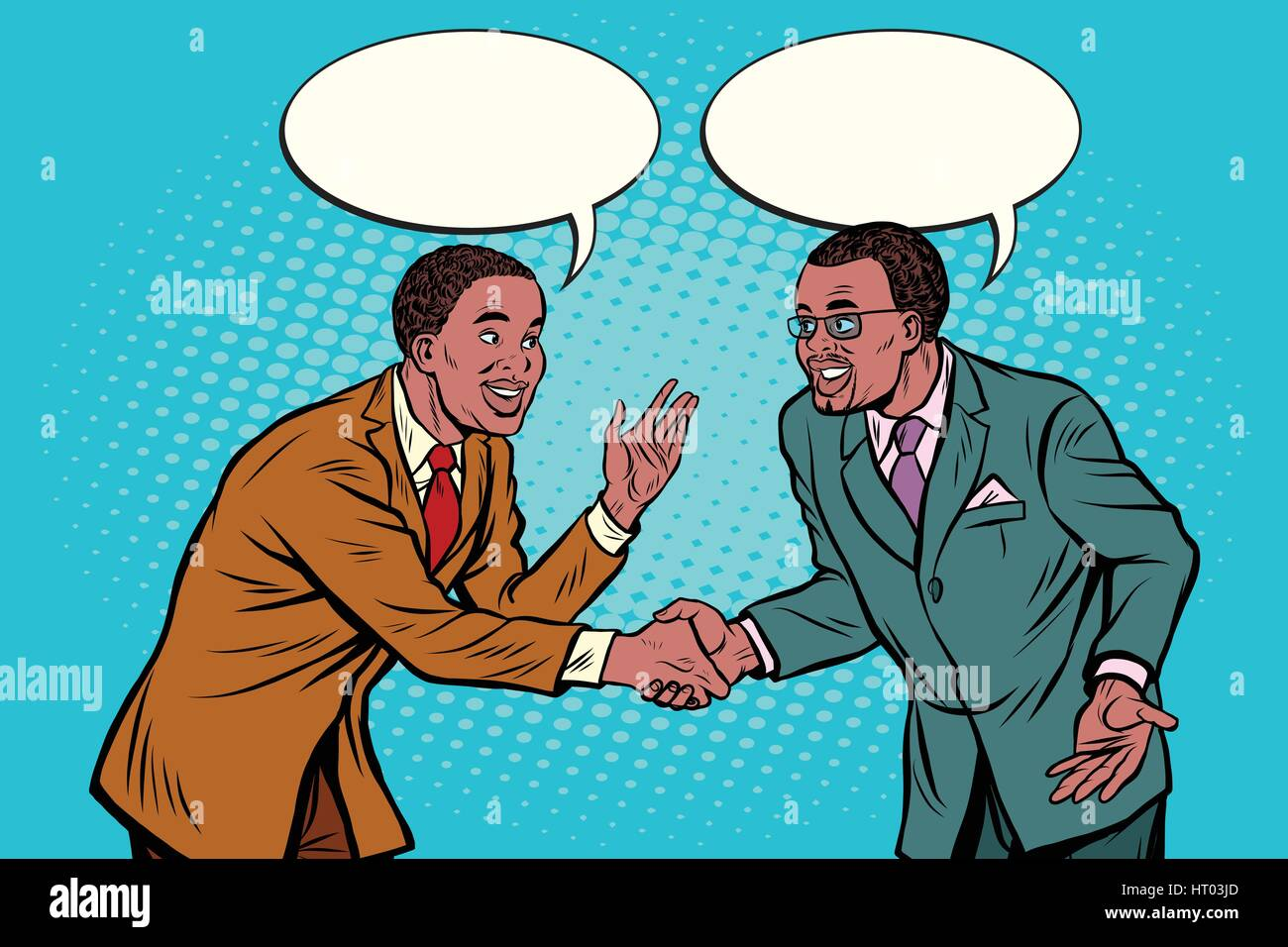 Business negotiations businesspeople shaking hands Stock Vector