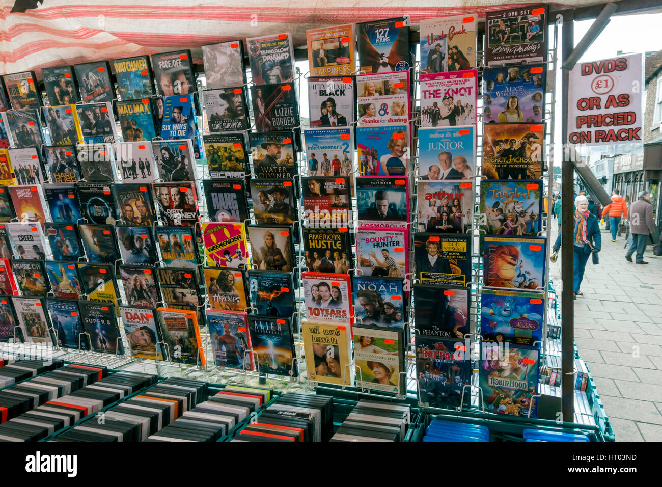 Used Dvds For Sale >> A Display Of Used Film Dvd S Priced At 1 Each For Sale On A